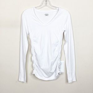 Athleta Pure White Long Sleeve Top Small